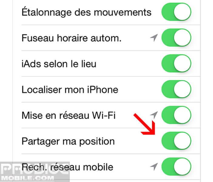 Empêcher les applications d'accéder à votre localisation