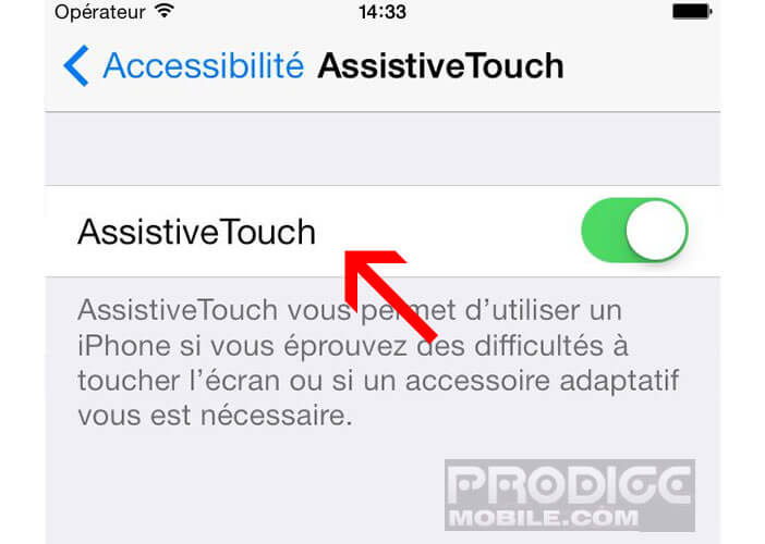 Activer AssistiveTouch