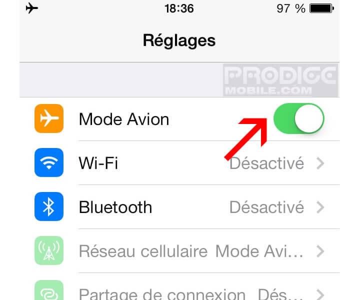 Mode Avion: Accélérer le temps de charge