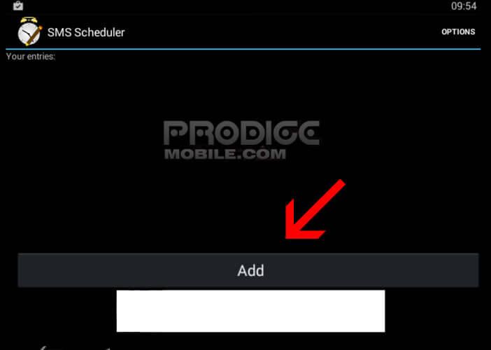 Créer un SMS planifié avec l'appli SMS Scheduler