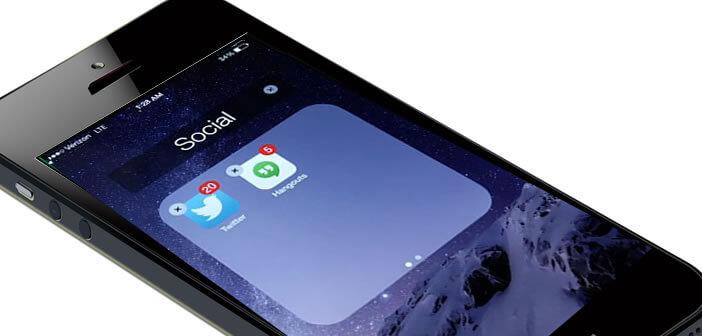 Apple iPhone: créer des sous-dossiers sur l'écran d'accueil