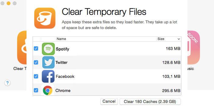 Supprimer fichiers temporaires de l'iPhone