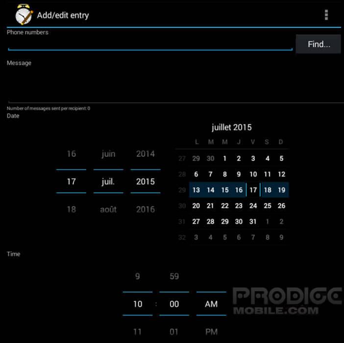 Envoyer un SMS automatiquement à une date précise