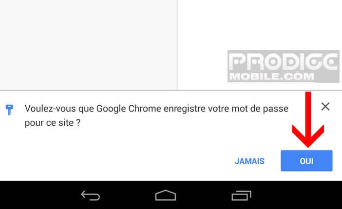 Enregistrer mot de passe d'un site web sur Chrome
