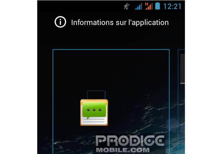 Installer une icône d'application sur le bureau Android
