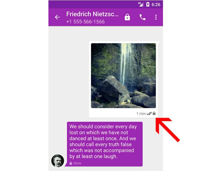 Message instantané crypté