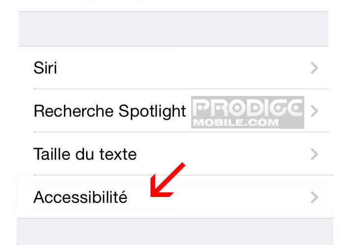 Flash led: options d'accessibilité