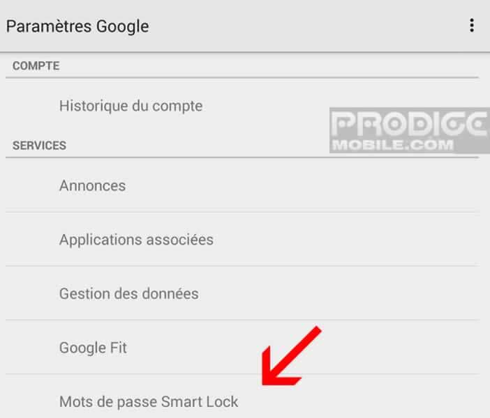Smart Lock sur les smartphones Android