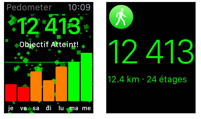 Apple Watch : application sportive
