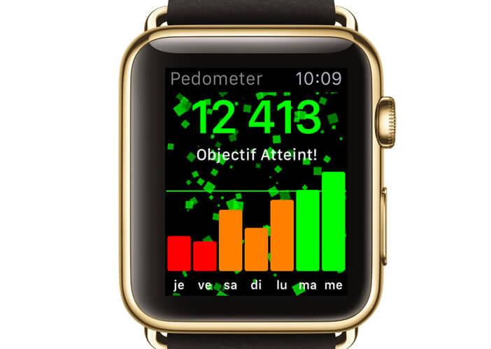 Podomètre++ compatible Apple Watch