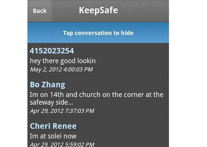 Bloquer accès à vos SMS