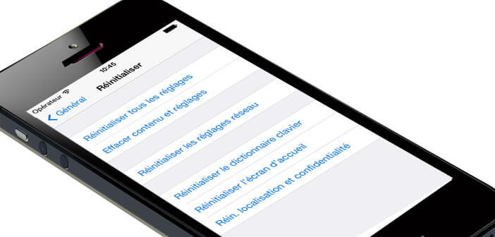 Supprimer les données personnelles de son iPhone