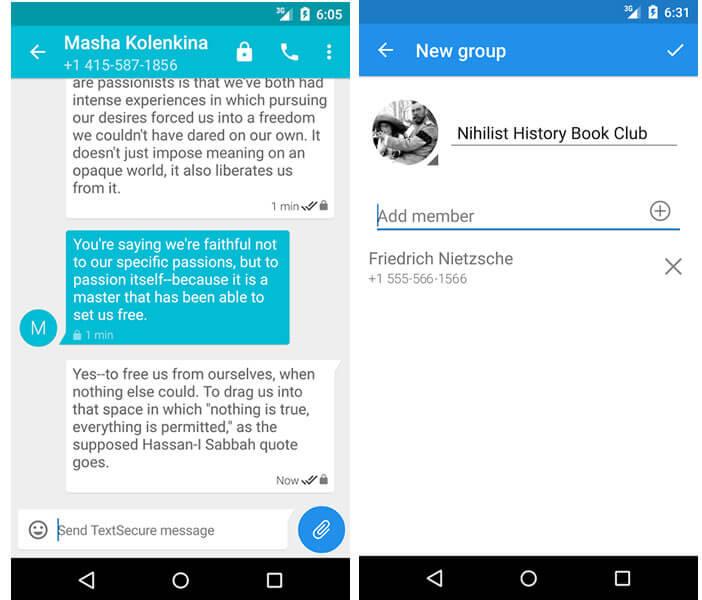 TextSecure, messagerie privée pour Android