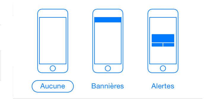 Méthode pour bloquer les notifications sur l'iPhone