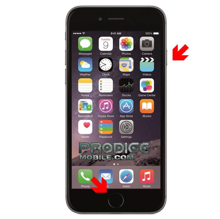 Réaliser une capture d'écran avec une iPhone
