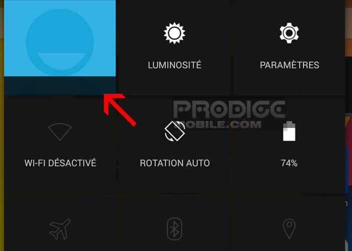 Basculer du compte à l'autre sur une tablette Android