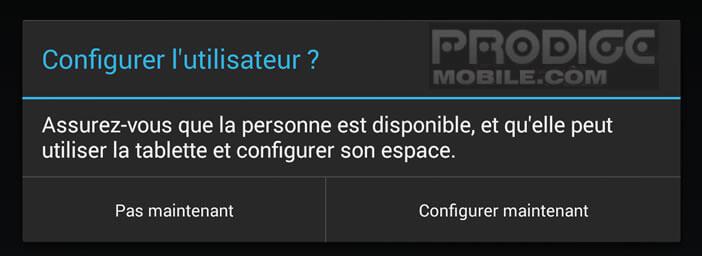 Configurer un compte utilisateur Android