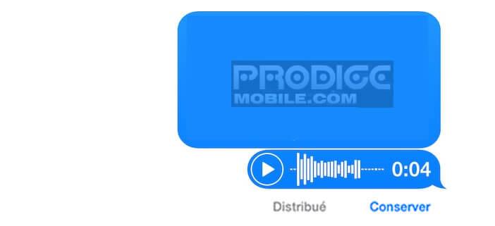 Conserver les messages vocaux envoyés à partir d'un iPhone