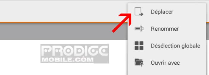 Déplacer vos photos avec Astro File Manager