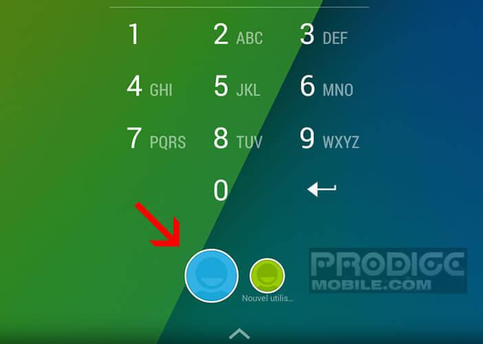 Changer de compte à partir de l'écran de verrouillage Android