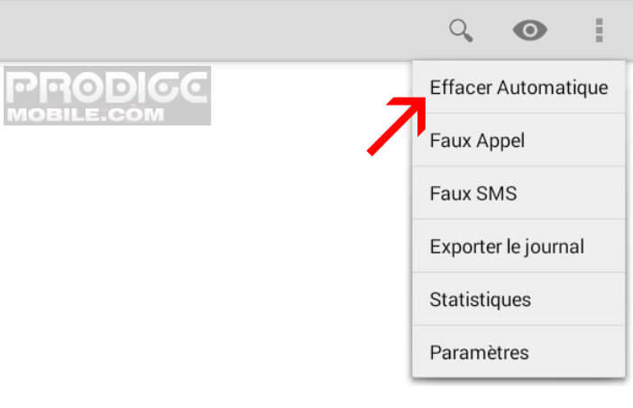 Option de suppression automatique des SMS