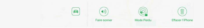 Déclencher la sonnerie d'un iPhone