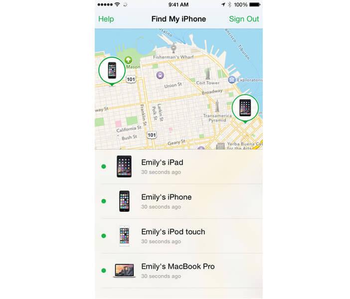 Localiser un iPhone sur une carte