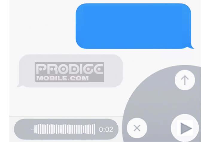 Création d'un message audio sur l'iPhone