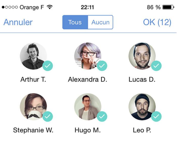 Envoyer un message groupé sur l'iPhone