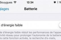 iPhone: augmenter l'autonomie avec le mode d'énergie faible
