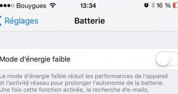 Optimiser l'autonomie de l'iPhone avec le mode d'énergie faible