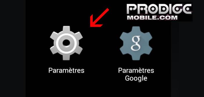 Paramètres du smartphone Android