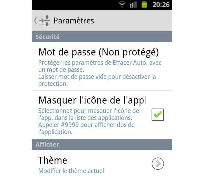 Protéger les filtres de suppression auto de SMS