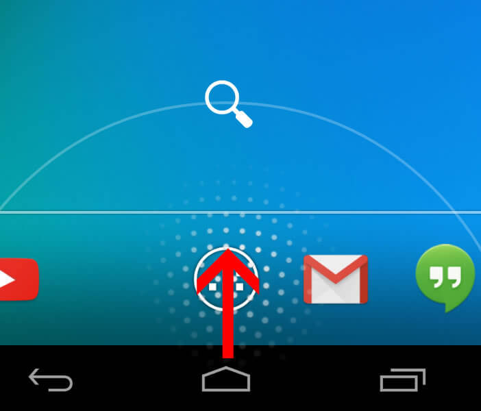 Bouton raccourci Google Now