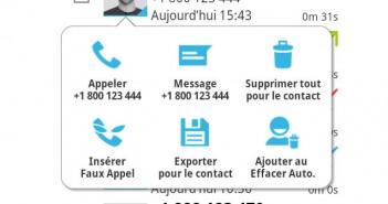 Suppression automatique des SMS et de la liste d'appels