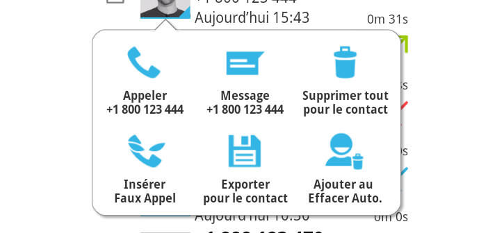 Suppression automatique des SMS et de la liste d'appels