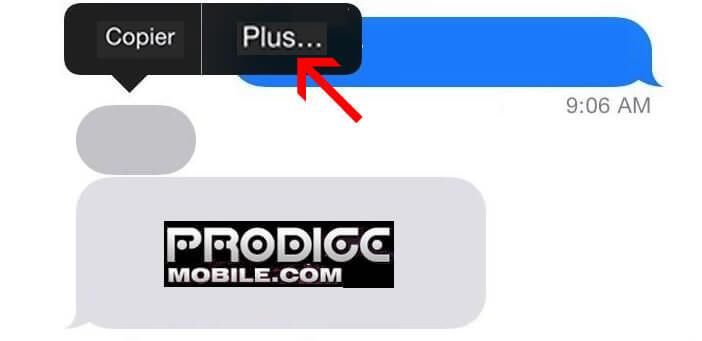 Supprimer un SMS sur l'iPhone