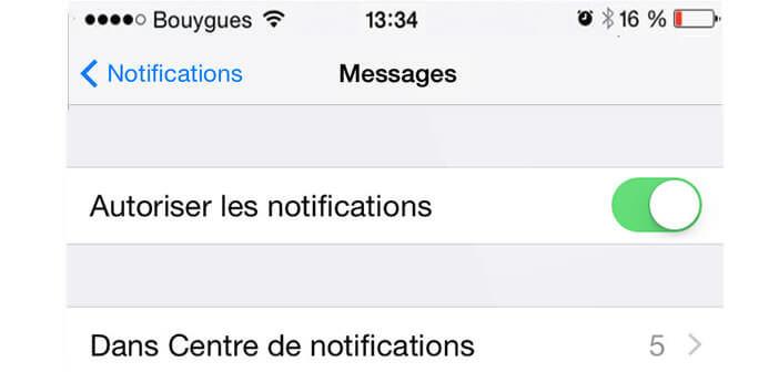 iPhone: Masquer l'aperçu des sms