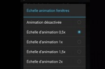 Désactiver les animations de transition sur Android