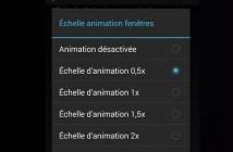 Désactiver les animations de transition sur Android