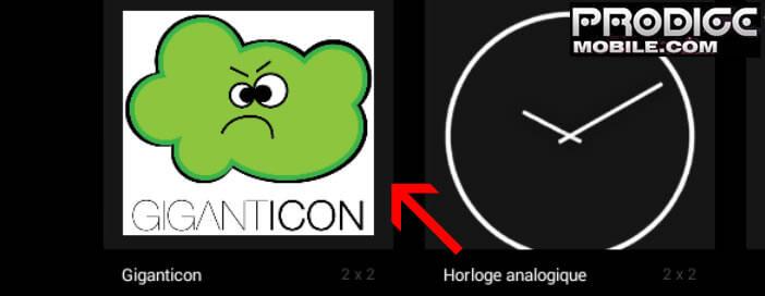 Icône widget Giganticon