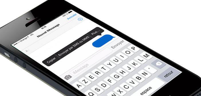 Forcer l'envoi d'un message en mode SMS