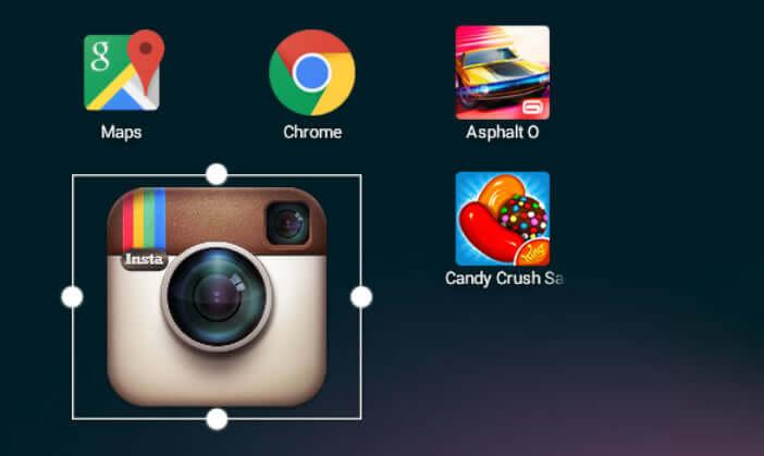 Redimensionner les icônes des applications Android