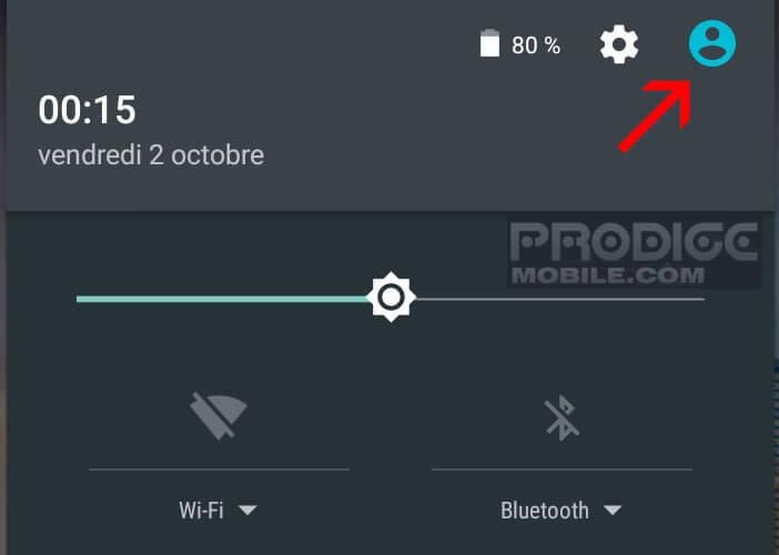 Activer le mode invité sur Android