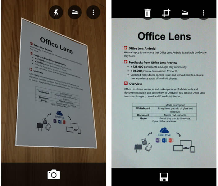Application scanner Office Lens