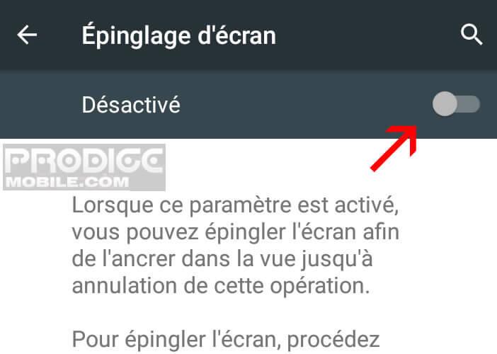 Empêcher l'utilisateur de changer d'application