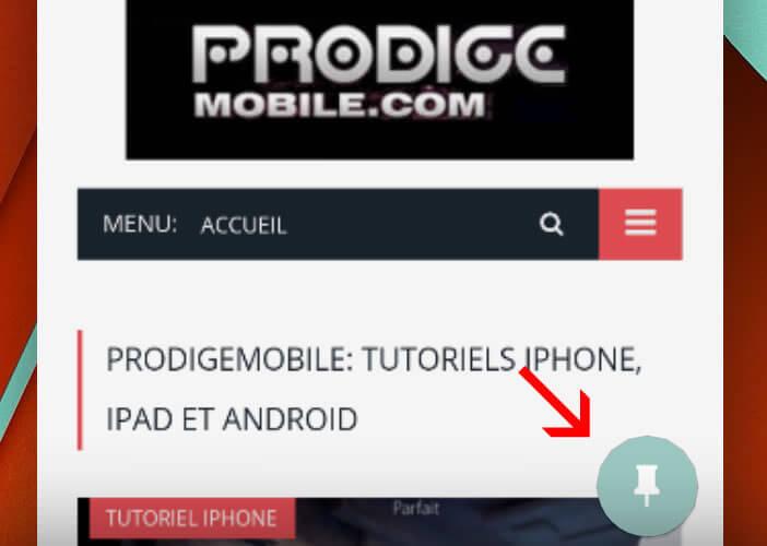 Epingler une application sur l'écran de votre smartphone Android