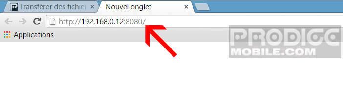 Accéder au contenu de son téléphone depuis un navigateur web