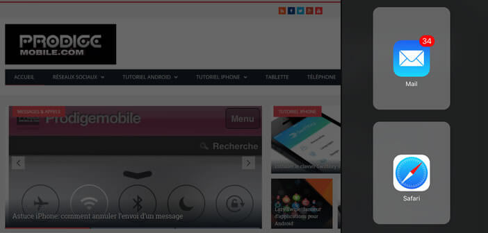 Le mode multi-fenêtres iPad