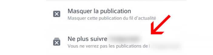 Masquer les publications d'un ami sur votre fil d'actualité
